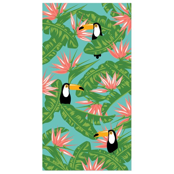 Kazivera Greenery 100% Cotton Beach Towel by Bay Isle Home